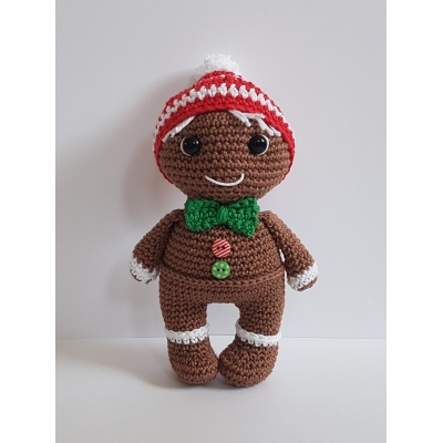 Gingerbread mannetje Pim - haakpatroon